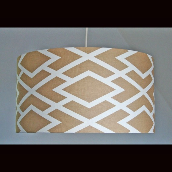 Could use fabric or painter's tape and paint!: Colors Patterns, Shades Prints, Lampshades, Lamps Shades, Canvas, Prints Colors, Modern Lights, Bold Colors, Prints Prints