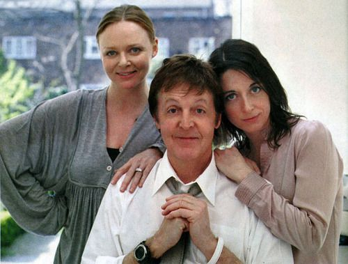 Stella & Mary with their dad | via Beatle Love ~ Cityhaüs Design