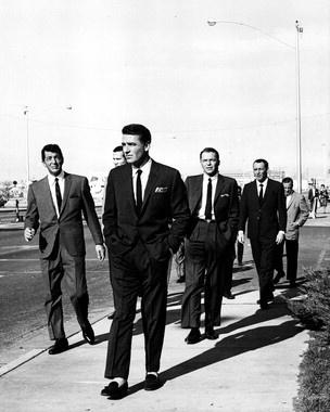The Rat Pack (Frank Sinatra, Dean Martin, Sammy Davis Jr., Peter, Joey)