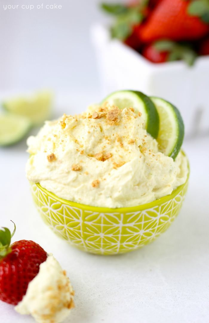 This Key Lime Pie Fruit Dip is so easy! And it's only 3 ingredients, my new summer favorite!