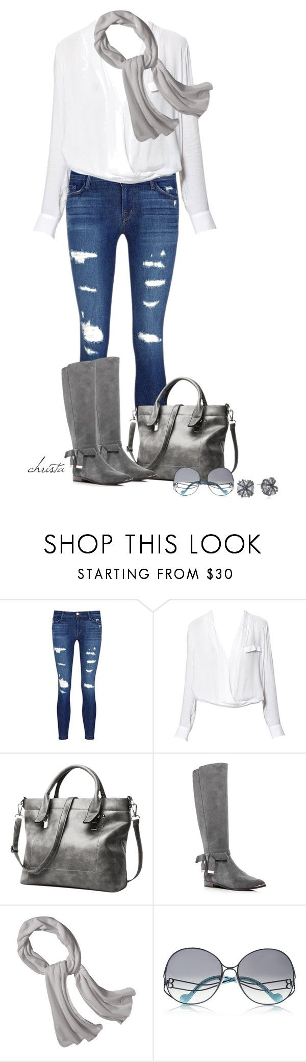 """Simple Grey and White"" by christa72 ❤ liked on Polyvore featuring J Brand, Zara, Ted Baker, Patagonia, Balenciaga and ABS by Allen Schwartz"