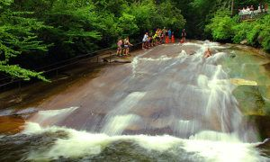 This NC waterfall is an incredible natural slip 'n' slide  - Posted on Roadtrippers.com!