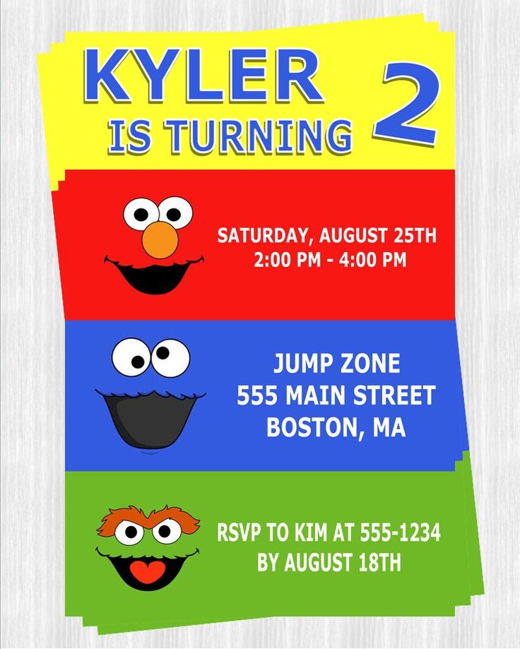 Sesame Street Party Invitations. $7.50, via Etsy.