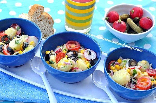 Recettes Vegetarienne - Salade de Pommes de… - Champignons farcis… - Gratin de pommes de… - Couscous et Puddings