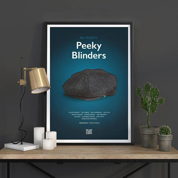 Peeky Blinders Poster, TV Poster Art Print, TV Poster, Wall Art, Peeky Blinders Poster, Peeky Blinders Season 4, BBC Series   All pieces are printed on heavyweight 230 gsm art paper in a lovely matt finish.  These prints can be printed to any size you want as each one is printed to
