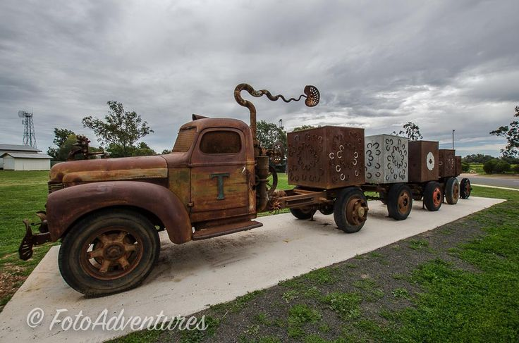 The Tambo Truck  Wild and Wooly by Artist Christopher  Trotter 2015 #history #oldvehiclesrock  #woolindustry #transportation  #everything_transport_