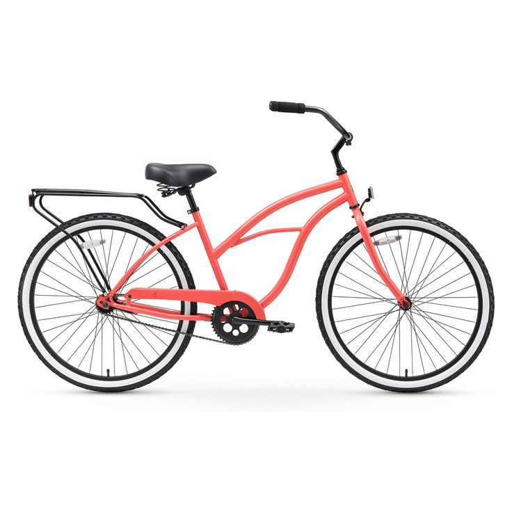 Sixthreezero 26 in. Ladies Around the Block Single Speed Beach Cruiser Bicycle with Rear Rack - 630048