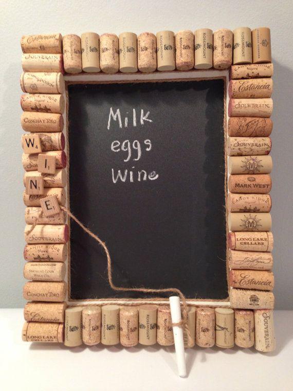 Chalk Board cork board OOAK unique by PillowtasticPlus on Etsy, $25.00