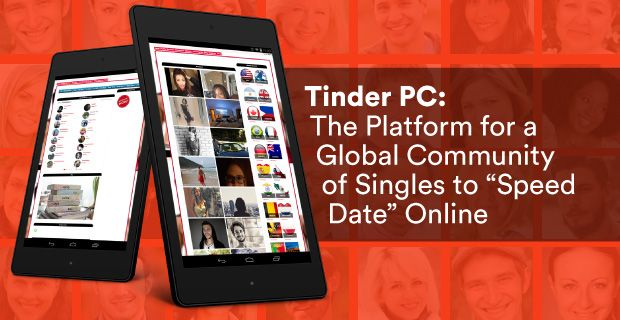 The dating site Tinder PC seeks to expand the reaches of other sites and apps to find singles all over the world from a web browser on your desktop, tablet, or phone. With its online speed dating service, members can find other singles and video chat securely directly from its website, a unique feature in the dating world ➔ http://www.datingadvice.com/online-dating/tinder-pc-global-community-singles