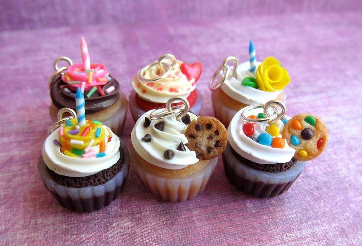 Polymer Clay Cupcake Charms by LittleSweetDreams.deviantart.com on @deviantART