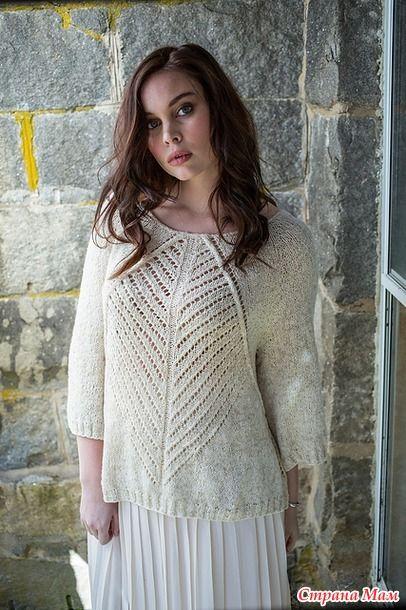 Пуловер Careen by Norah Gaughan описание с тырнета
