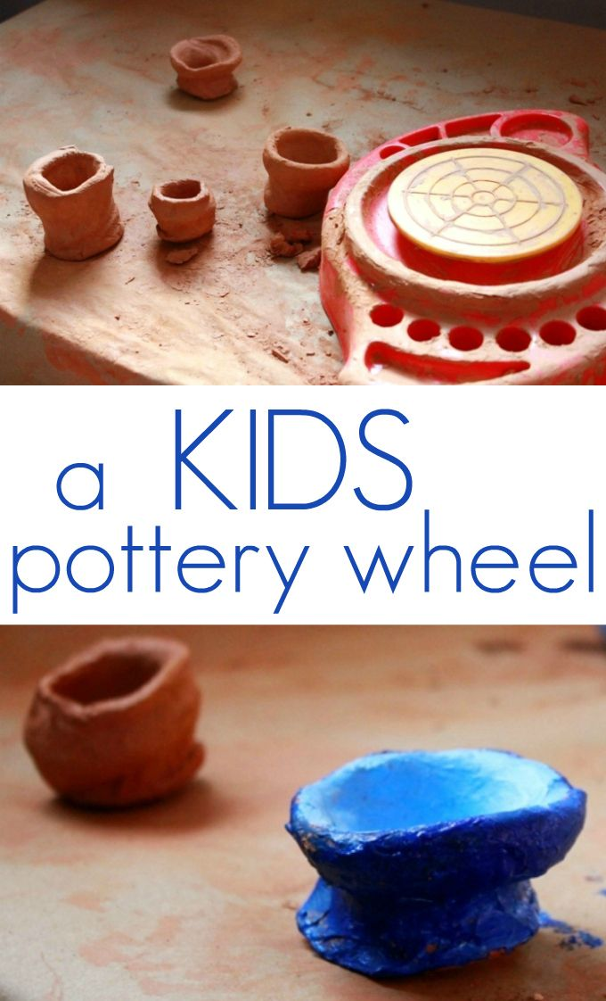 My daughter, a clay lover, uses her kids pottery wheel regularly and lets her little bowls and cups air dry (no household kiln here) before painting them.