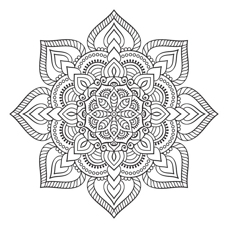 Colorear adulto mandala imprimible gratis
