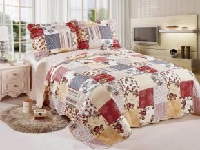 Colcha Queen Size Camesa Evolution Patchwork - Magazine Luiza
