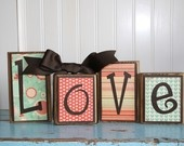 Love is always in styleHoliday Ideas, Wood Block, Ideas Holiday, Decor Block, Crafts Ideas, Block Wood, Block Projects, Projects Ideas, Wooden Block Signs Diy