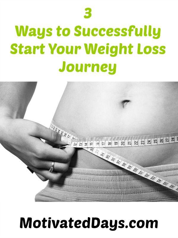 3 Ways to Successfull Start Your Weight Loss Journey #weightloss #fitness #goals