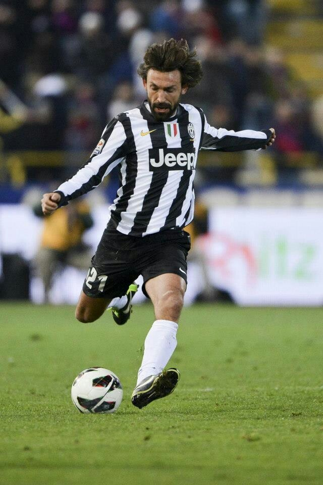Pirlo one of the best free kickers and a genius footballer .... pure class