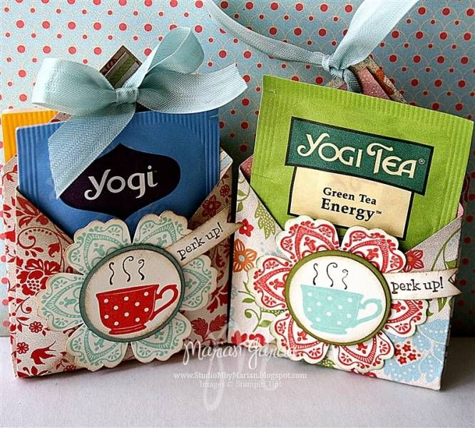 Tea-riffic TEA BAG GIFT HOLDERS by Studio M - Cards and Paper Crafts at Splitcoaststampers