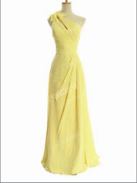 (In blush of course!) yellow bridesmaid dresses long bridesmaid dresses by sofitdress, $119.00