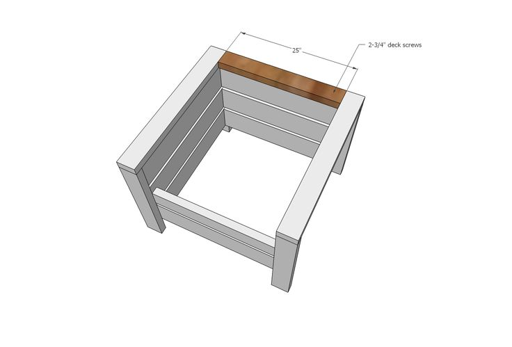 Ana White | Modern Outdoor Chair from 2x4s and 2x6s - DIY Projects