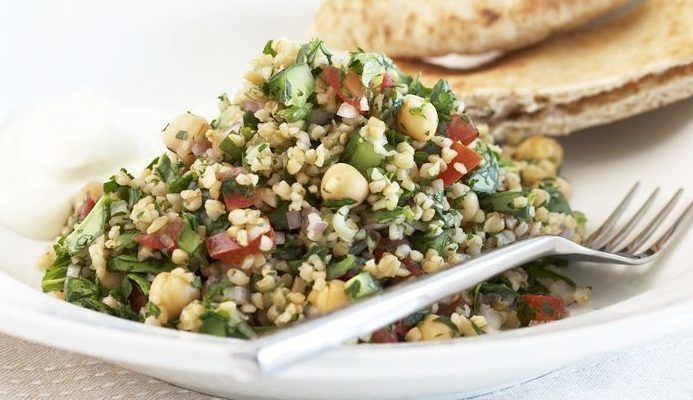 Chickpea and tabouli salad – recipe courtesy of Campbell's Kitchen