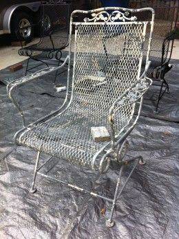 Diy How To Paint A Vintage Wrought Iron Chair Great