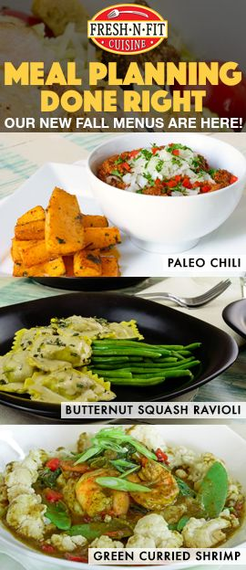 Enjoy the hundreds of new meals on our NEW FALL MENUS! We offer fresh, organic, gluten free, and vegetarian options each week. Use promo code PINSEPT20 at checkout from 9/14/16 - 9/16/16 for $20 off your entire order.
