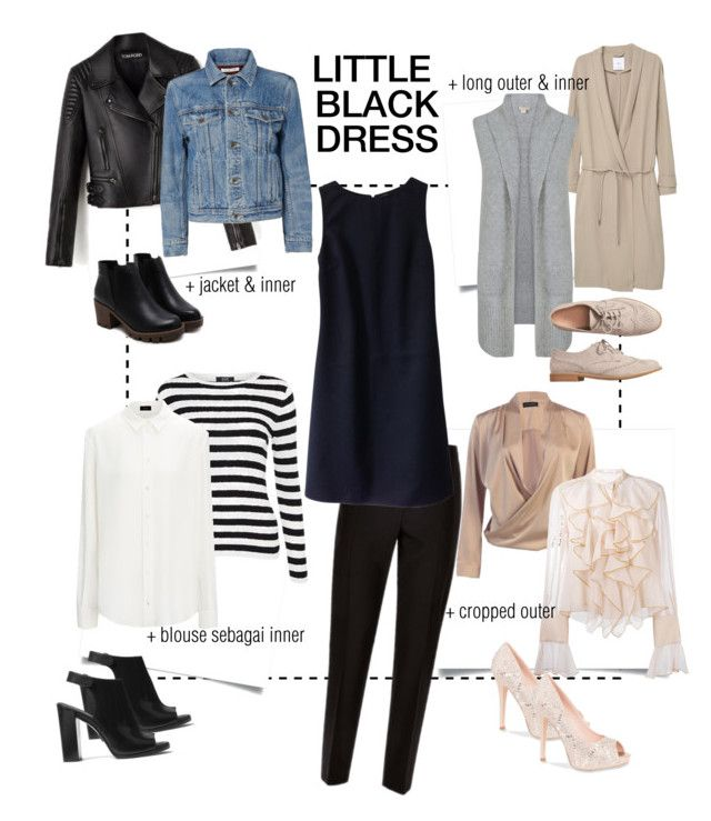 """""""little black dress"""" by ina-misshijab on Polyvore featuring Jaeger, Christian Dior, MANGO, Helmut Lang, Michael Kors, Gap, See by Chloé and Lauren Lorraine"""