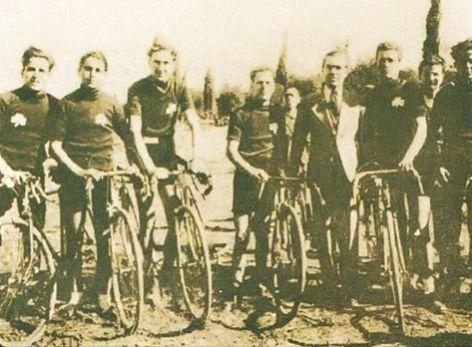Η ομάδα ποδηλασίας του ΠΑΟ το 1928
