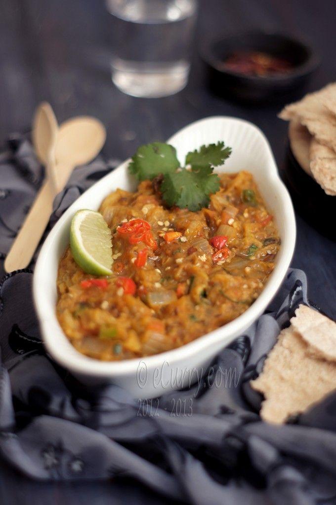 Baingan ka Bharta: Smoky and Spiced Eggplant Masala.