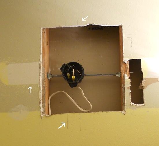 Bathroom Light Fixture Installation: Install Light Fixture Between Studs