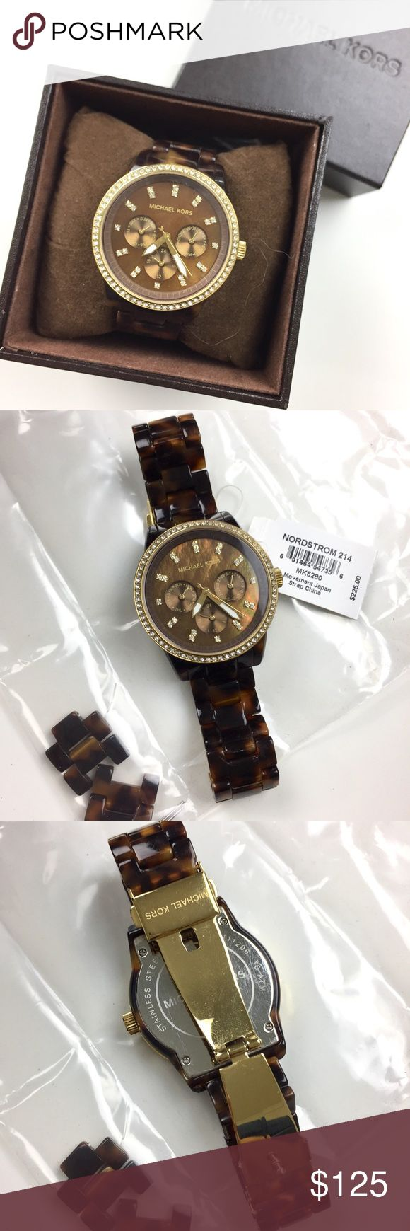 Michael Kors Tortoise Watch NO TRADES • Michael Kors Tortoise watch. No scratch on the face. Pre-loved; in great condition. Includes original box and extra links. Needs new battery. Purchased from Nordstrom. • NO TRADES Michael Kors Accessories Watches