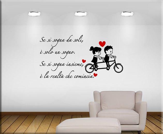 Adesivo murale con frase frasi scritte intagliate per parete scritta Family