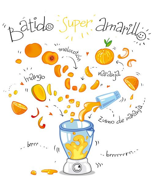 Batido super amarillo :) (cartooncooking.blogspot.com)
