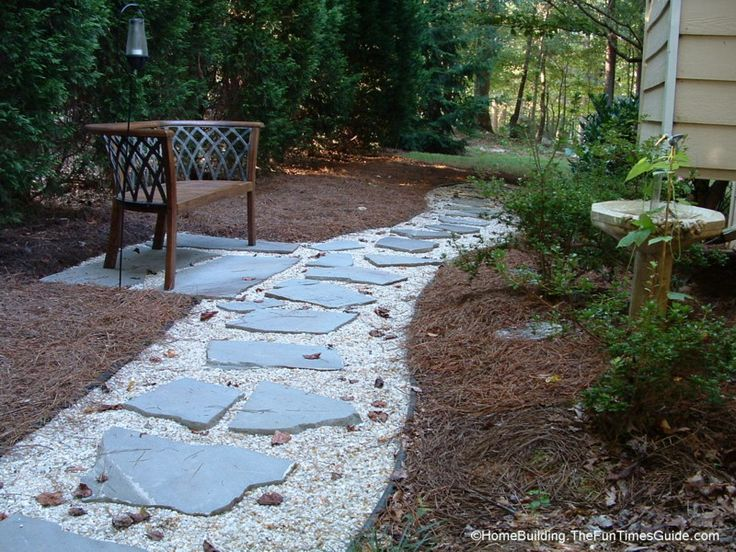 28 best flagstone path ideas images on pinterest for Rock stepping stones landscaping