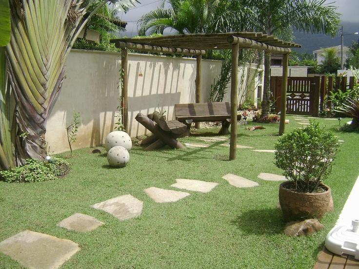 P rgola caminho de pedra tem no quintal pinterest for Idees plantations exterieures
