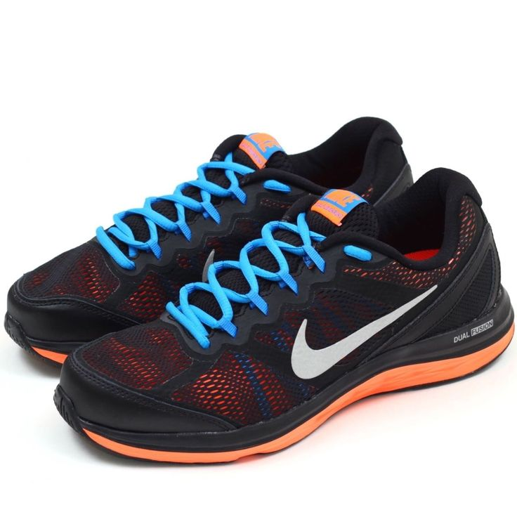 NIKE Dual Fusion Run 3 Mens Running Shoes 653596-012 MISMATCH Sz 9/8.5