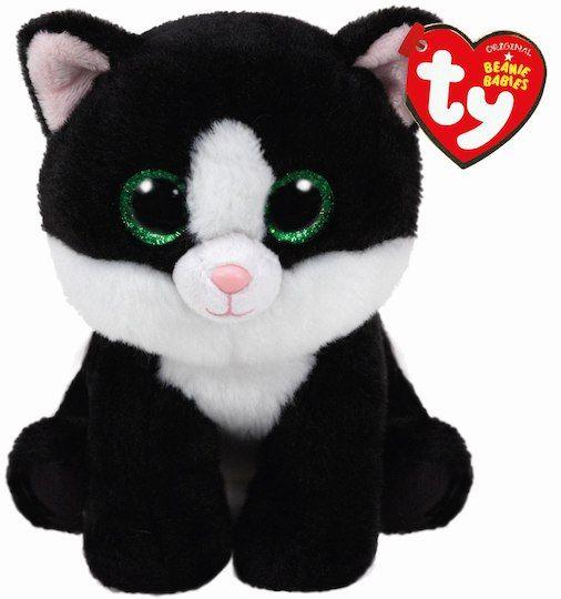 Ty Original Beanie Babies Black & White Ava Cat, Regular