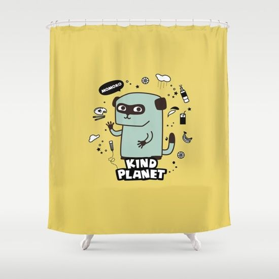 KIND PLANET Shower Curtain