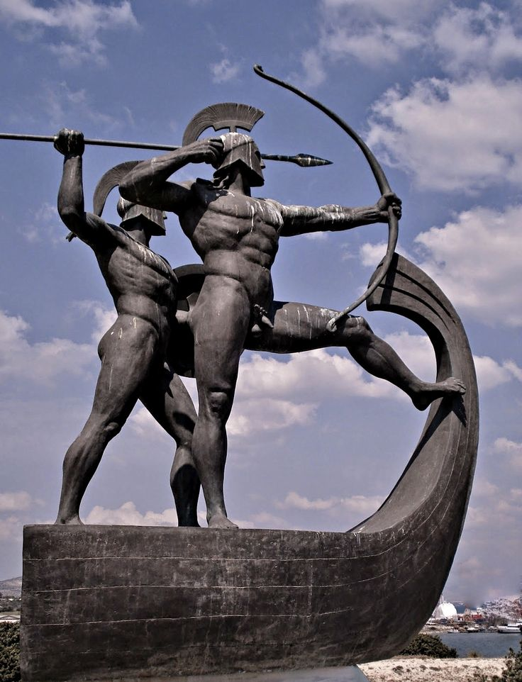 Monument to the Ancient Greek Warriors of the Battle of Salamis 480 B.C. Achilles Vasileiou. bronze http://hadrian6.tumblr.com