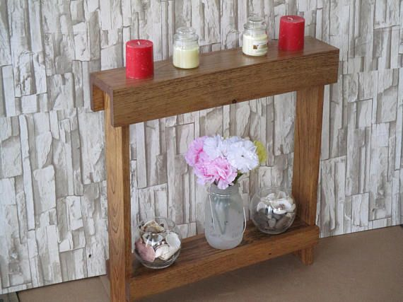 Small accent table Skinny Side Table Narrow End