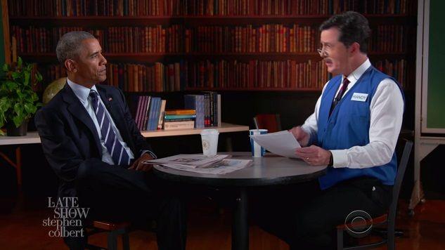 Watch Stephen Colbert Help President Obama Prepare for Unemployment