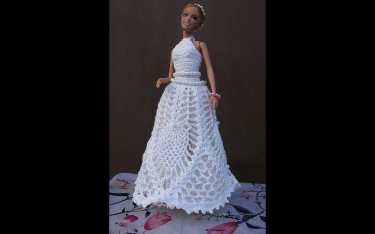 Платье. Свяжем свадебное платье для Барби!!!!. Knit dress for the Snow M...