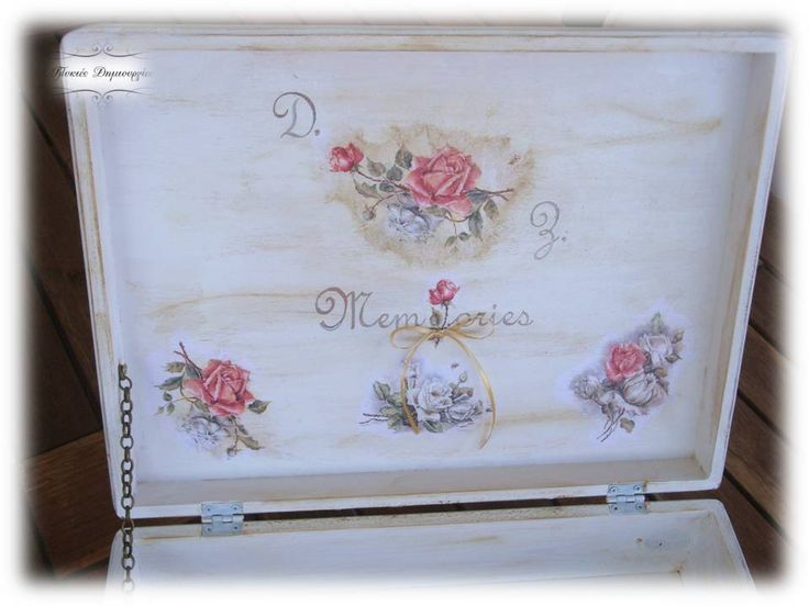 Wedding Box Decoupage