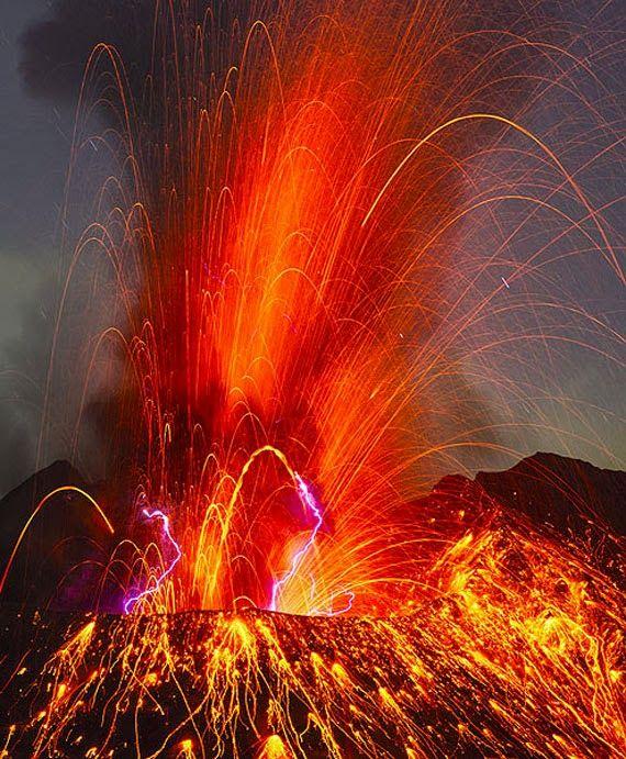 Pictures: Sakurajima Volcano Shoots Lava Skyward