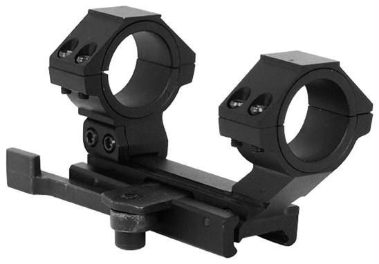 NcStar AR15 Qr Weaver Mount Cantilever Scope Mount Rear Ring 30mm & 1 inch Inserts