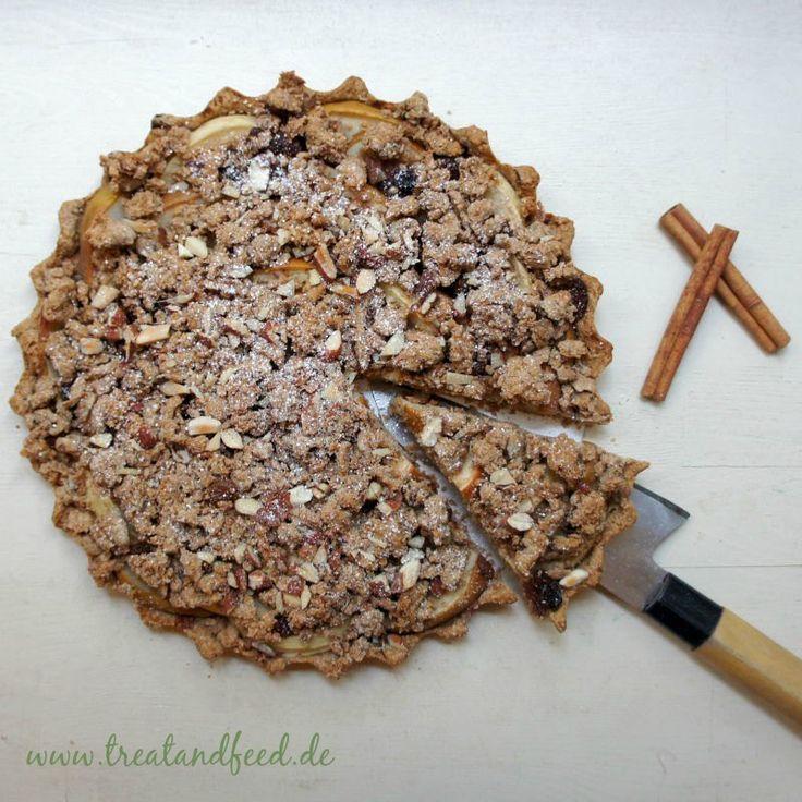 Apfel-Streusel-Kuchen ohne Zucker - lecker & gesund   treatandfeed