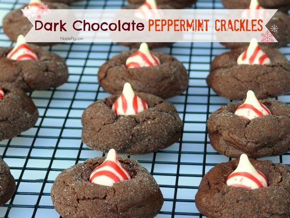 Dark Chocolate Peppermint Crackles | Noble Pig: Christmas Cookies, Christmas Goodies, Holiday Treats, Dark Chocolate, Sweet Treats, Holiday Cookie, Christmas Treats, Chocolate Peppermint, Christmas Sweet