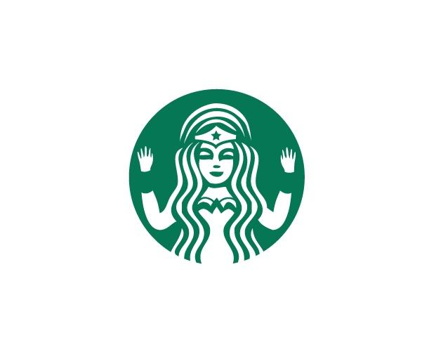 Starbucks X Wonder Woman Logo Spoof