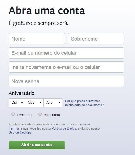 facebook-entrar-criar-conta-face